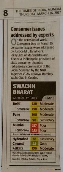 Article on Social Sanchar in Times of India Page 6